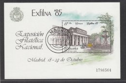 SPAIN USED MICHEL BL 28 EXFILNA 1985 - Blocs & Feuillets