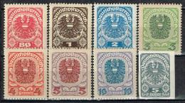 Österreich 1920 / 21 , 8 Marken Postfrisch / MNH / Neuf - 1918-1945 1ste Republiek