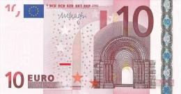 EURO GERMANY 10 X DRAGHI E007 UNC - EURO