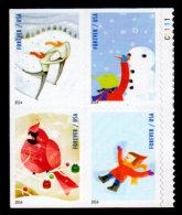 USA, 2014, Scott #4937-4940, Winter Fun, Booklet Block Of 4, MNH, VF - Unused Stamps