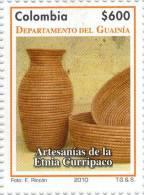 Lote 2641, Colombia, 2010, Guania, Sello, Stamp, Artesanias De La Etnia Curripaco, Indigenous Crafts - Colombia
