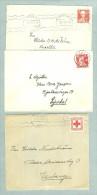 Sweden. 3 Different Covers. Postal Used. 1940es. - Suède