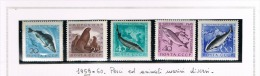 URSS -  / 1959  FISHERIES PROTECTION (COMPLET SET OF 5 DIFFERENT STAMPS) - MINT/UNUSED **/*   RIF. CP - 1923-1991 URSS