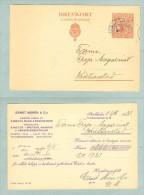 Sweden. Card Postal Stationery. Commercial 1921. King Gustav V, 10 Ore - Postal Stationery