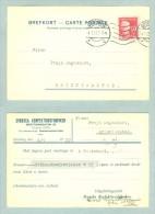 Sweden. Card Postal Stationery. Commercial 1922. Stamp King Gustav V, 10 Ore - Postal Stationery