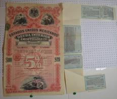 Estados Unidos Mexicanos, Mexico 1898 - Banque & Assurance