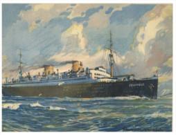 (676) Very Old Cruise Ship Postcard - Columbus - Dampfer