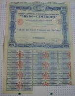 Sté Des Comptoirs D'importation Et D'exportation Congo-Cameroun, Capital De 1,5 Millions - Afrique