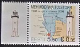 Estonia, 2008, Mi. 602, Sc. 587, SG 564, The 70th Anniv. Of Mehikoorma Lighthouse, MNH - Fari