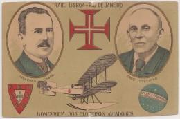 Postal Portugal - Raid Lisboa Ao Rio De Janeiro, Sacadura Cabral E Gago Coutinho - Aviation - Carte Postale - Postcard - Portugal