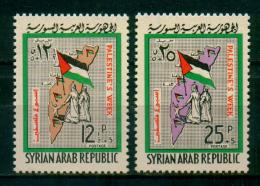 SYRIA / 1965 / PALESTINE / ISRAEL / PALESTINE WEEK / MAP / FLAG / MNH / VF - Syria