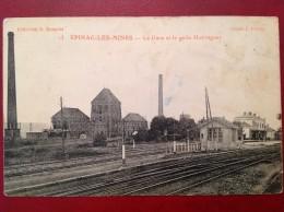 71 Saone Et Loire Cpa EPINAC LES MINES La Gare Et Le Puits Hottinguer - Autres Communes