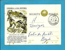 CONHEÇA A SUA HISTÓRIA - N.º 57 - Reconquista De Angola - Carimbo: Castro Verde - INTEIRO POSTAL STATIONERY - Enteros Postales