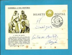CONHEÇA A SUA HISTÓRIA - N.º 59 - S. João De Brito - Carimbo: Castro Verde - INTEIRO POSTAL STATIONERY - Enteros Postales