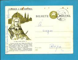 CONHEÇA A SUA HISTÓRIA - N.º 60 - S. João De Brito - Carimbo: Relíquias - INTEIRO POSTAL STATIONERY - Interi Postali