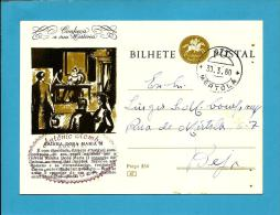 CONHEÇA A SUA HISTÓRIA - N.º 67 - RAINHA DONA MARIA II - Carimbo: Mértola - INTEIRO POSTAL STATIONERY - Enteros Postales