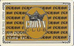 Excalibur Casino Las Vegas NV - 5th Issue Slot Card (Mag Stripe Thru Text) - Casino Cards