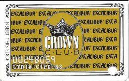 Excalibur Casino Las Vegas NV - 6th Issue Slot Card (800-879-1379 Phone#) - Casino Cards