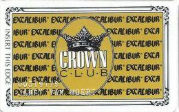 Excalibur Casino Las Vegas NV - 7th Issue Slot Card (800-633-7777 Phone# & Extra Player#) - Casino Cards