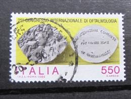 ITALIA USATI 1986 - 25° CONGRESSO INT OFTALMOLOGIA - SASSONE 1763 - 1^ SCELTA - 6. 1946-.. Repubblica
