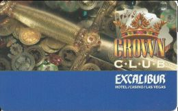 Excalibur Casino Las Vegas NV - 9th Issue Slot Card - Normal Reverse Text (BLANK) - Casino Cards