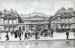 Paris - Le Palais Royal - Carte A.B. Colorisée (ciel) - Andere Monumenten, Gebouwen