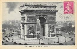 Paris - Place De L'Etoile - L'Arc De Triomphe - Carte LL N°2144 - Triumphbogen