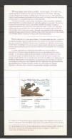 CANADA - CARNET TIMBRE VIGNETTE POUR LA CONSERVATION DES HABITATS FAUNIQUE DU CANADA - 1990 - VOIR SCAN - Local, Strike, Seals & Cinderellas