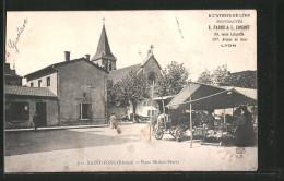 CPA Saint-Fons, Place Michel-Perrer - Non Classés