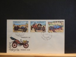 58/913     2  FDC  LAOS - Voitures