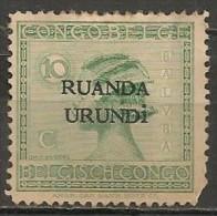 Timbres - Afrique - Ruanda-Urundi - 10 C. - 1924-1925 - - Ruanda-Urundi