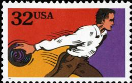 1995 USA Recreational Sport Stamp- Bowling C#2963 - Bowls