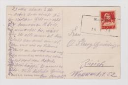 Heimat TI Minusio 1921-05-24 Aushilfsstempel Auf AK Neue Verwendung - Suisse
