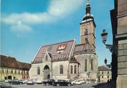 Zagreb, Crkva Sv. Marka Old Postcard Not Travelled Bb160201 - Croacia