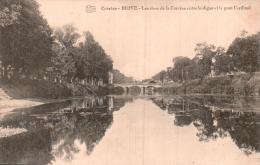 29 BRIVE LES RIVES DE LA CORREZE ENTRE LA DIGUE ET LE PONT CARDINAL CIRCULEE 1915 - Brive La Gaillarde