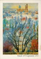 MICHELE  CASCELLA   PAESAGGIO  MESSICANO   MAXICARD  11,8X16,8    (NUOVA) - Peintures & Tableaux