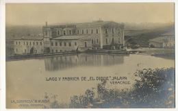 """Jalapa Lago Y Fabrica De """" El Dique """" Editor La Sorpresa M.M. Alba Real Photo - Mexique"""