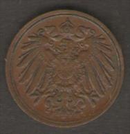 GERMANIA 1 PFENNIG 1910 - [ 2] 1871-1918 : Impero Tedesco