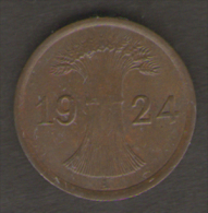 GERMANIA 1 REICHSPFENNIG 1924 - 1 Rentenpfennig & 1 Reichspfennig