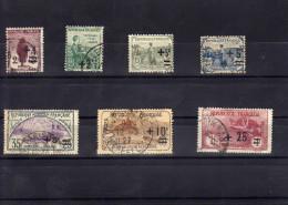 Orphelins De La Guerre 1922 Y Et T N° 162.163.164.165.166.167.168.oblitérés  Surchargés Cote 85 Euros