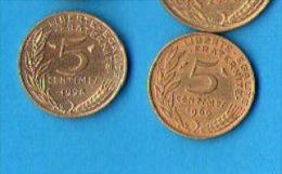 FRANCE - 5 Centimes  MARIANNE De LAGRIFFOUL - 1966 à 2001 Sauf 1989,1999,2000 Et 2001 - France