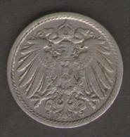 GERMANIA 5 PFENNIG 1912 - [ 2] 1871-1918 : Impero Tedesco