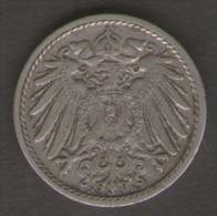 GERMANIA 5 PFENNIG 1908 - [ 2] 1871-1918 : Impero Tedesco