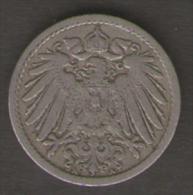 GERMANIA 5 PFENNIG 1898 - [ 2] 1871-1918 : Impero Tedesco