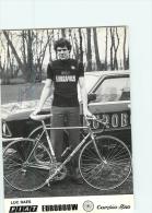 Luc RAES, Autographe Manuscrit, Dédicace. 2 Scans. Cyclisme. Eurobouw Cambio Rino 1980 - Wielrennen