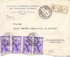 AVV.TI GIUSEPPE-RICCARDO PATERNI - ROMA - 12X16 - R - ANNO 1952 - TEMA TOPIC COMUNI D´ITALIA - STORIA POSTALE - Machine Stamps (ATM)