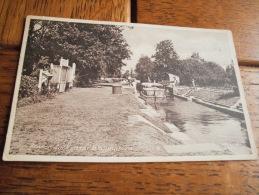 BENSON LOCK NEAR WALLINGFORD -  CARTE PHOTO FORMAT CPA ECRITE ANNEES 40 - Angleterre