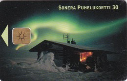 Finland, D213, Northern Lights In Lapland, 2 Scans.