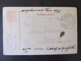 GANZSACHE Korrespondenzkarte K.u.k.Feldpostamt Nr.294 /// D*19020 - 1850-1918 Imperium