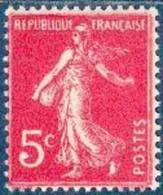 France 1932/37 - Type Semeuse Fond Plein - 5 C. Rose - Y&T N°278B ** Neuf Luxe 1er Choix (gomme D´origine Intacte) - France